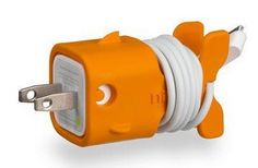 Simply Cool Products - Goldie Orange Plug And Cord Organizer
