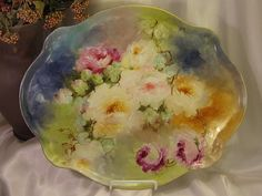 """""""Hand Painted Masterpiece"""" Limoges France ROSES Hand Painted from oldbeginningsantiques on Ruby Lane"""