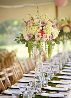 Tall Centerpieces  // Photography: Jess + Nate Studio // TheKnot.com