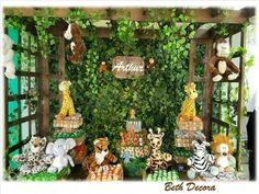 Decoração para festa tema Safari Beth Decora whatsapp 98325-2545