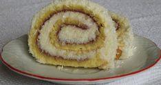 moje záľuby...: Roláda kokosová a čokoládová Slovak Recipes, Nutella, Ale, Deserts, Rolls, Baking, Roll Cakes, Food, Kitchens