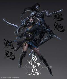 Phantom Sisters by SKtneh on deviantART #kunoichi #ninja