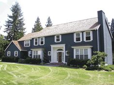 A traditional colonial exterior graces this spacious family home plan with four full bedrooms and a bonus room.A large two-story foyer with twin coat closets greets you upon entering.Formal living and dining rooms flank the foyer and lead to the informal areas in the rear of the home.Your family will love to gather in the open kitchen, nook and family room with a fireplace.A spacious island separates the kitchen from the nook and allows the chef to keep an eye on the activities.The master bedroo