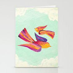 Dawn & Daisy the Sparrows Stationery Cards by Shanti Sparrow - $12.00