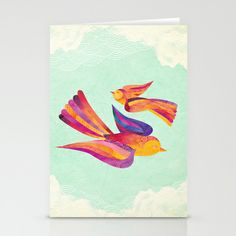 Dawn & Daisy the Sparrows Stationery Cards by Shanti Sparrow - $12.00
