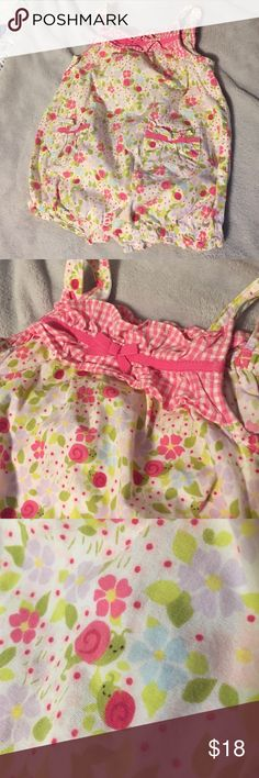 Sweet floral jumper Lightweight and summery material! Cute flower and snail pattern! Gymboree One Pieces