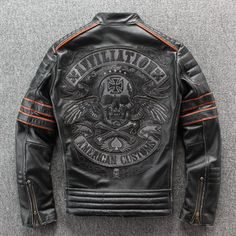 Men's Leather Jacket, Biker Leather, Cow Leather, Jacket Men, Affliction Clothing, Plus Size Vintage, Motorcycle Outfit, Motorcycle Jackets, Black Men