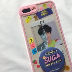 Cute Cases, Cute Phone Cases, Diy Phone Case, Iphone Cases, Tumblr Kpop, Kpop Phone Cases, Phone Covers, Kpop Diy, Aesthetic Phone Case