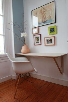 aménager un coin #bureau dans le salon : 29 idées à piquer ! | Une hirondelle dans les tiroirs