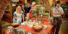 Magic Time Machine Restaurant - It's not just a restaurant, it's an adventure! Each visit brings a unique dining experience, even with the same characters. The Magic Time Machine, where Improvisation is at its best every night, at every table. Laughing Aloud is Allowed!