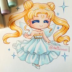 Chibi of Princess Serenity~ I want to do more non-chibi art soon.  #fanart