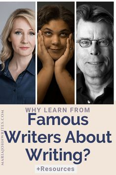 Why Learn From Famous Writers About Writing with Resources of Books and Videos to learn from Ray Bradbury's Zen in The Art of Writing, Stephen's King's On Writing, JK Rowling, Roxanne Gay's Skillshare Class and Ernest Hemingway's A Moveable Feast Writing Advice, Writing Resources, Writing Help, English Novels, Writer Quotes, Cool Writing, Writers Write, Writing Inspiration, Books To Read