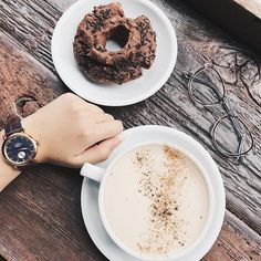 Mouthwatering...The donut and chai look pretty great too. #MyShinola #Shinola #📷 @shinola