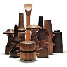 jenn-wren: Jens Quistgaard pepper mills via: the. Scandinavian Modern, Danish Modern, Mid-century Modern, Tips & Tricks, Nordic Design, Mid Century Design, Danish Design, Wood Turning, Wood Art