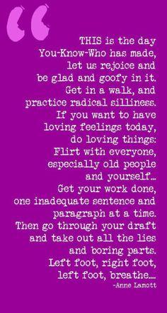 Beautiful words by Anne Lamott