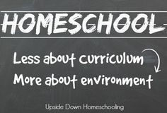 Less about curriculum