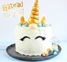 Recette de gâteau licorne / unicorn cake 7th Birthday, Birthday Cake, Number Cakes, Drip Cakes, Macaron, Cookies Et Biscuits, Vanilla Cake, Cupcakes, Candy