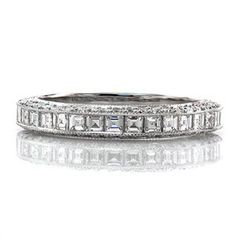 Passion Band from Knox Jewelers matches the Passion engagement ring and is a combination of asscher and round cut stones set in a micro pave style.