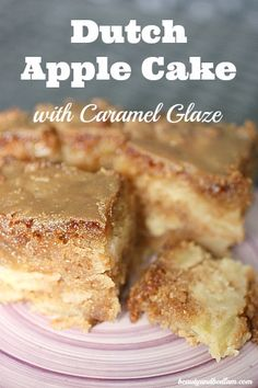 Dutch Apple Cake with Caramel Glaze @Jen (Balancing Beauty and Bedlam blog
