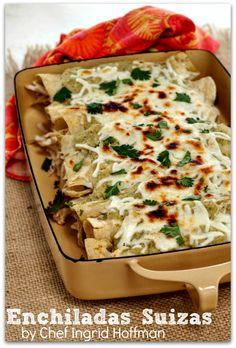 Cinco De Mayo Enchiladas Suizas by chef Ingrid Hoffman