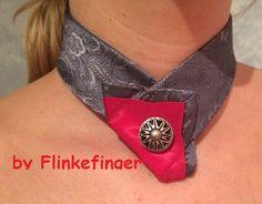 Damenkrawatte Silbergrau von by Flinkefinger auf DaWanda.com