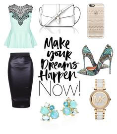 """Make your dreams happen!"" by muadianav on Polyvore featuring Christian Louboutin, City Chic, L.K.Bennett, Casetify, Ippolita and Michael Kors"