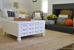 Coffee Table Makeover - Beneath My Heart