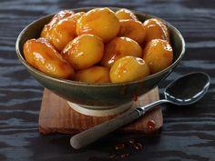 Glaserte poteter Pretzel Bites, Succulents, Bread, Fruit, Food, Recipes, Brot, Essen, Succulent Plants