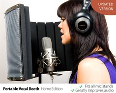 vocal booth | Portable Vocal Booth Home Edition | Home Studio Tips