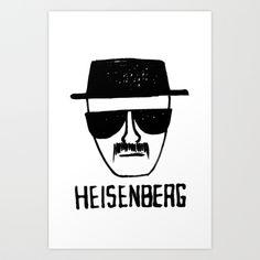 Heisenberg - Breaking Bad Sketch Art Print by Bright Enough   Society6