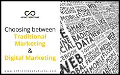 Advantages and disadvantages of traditional marketing and digital marketing. Learning these things should ultimately help you decide which type of marketing is more suitable for your business. Internet Marketing, Digital Marketing, Traditional, Type, Learning, Business, Books, Libros, Studying