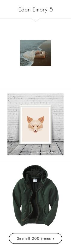 """""""Edan Emory 5"""" by stockmon ❤ liked on Polyvore featuring home, home decor, wall art, fox, printable wall art, interior wall decor, fox home decor, fox wall art, men's fashion and men's clothing"""