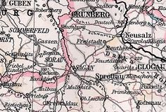 Duchy of Zagan - It was formed in 1274 from the western part of the Duchy of Głogów and existed under Piast rule until 1304, then again from 1322 to 1394 and from 1413 to 1472. Since 1329 it was under the suzerainty of Bohemia; it was acquired by the Saxon House of Wettin in 1472, before it was finally seized by the Bohemian king in 1549. The Żagań ducal title later passed to Bohemian and French nobility, in 1742 it was annexed by Prussia.