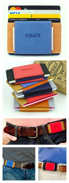 Ebax Wallet makes bulky wallets a thing of the past. Comes with 3 pockets for organizing your contents and for attaching to your belt.