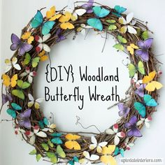 DIY Woodland Butterfly Wreath