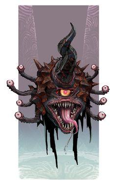 Beholder w Armor underdark undercity urban city ArtStation - K'Varn, Stephen Oakley My Fantasy World, Fantasy Rpg, Fantasy Monster, Monster Art, Fantasy Creatures, Mythical Creatures, Dark Souls, Dnd Monsters, Monster Design