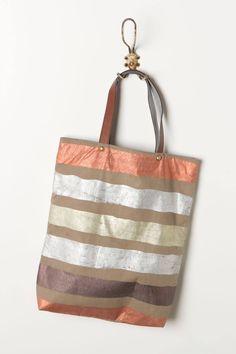 Foil Striped Tote - anthropologie.com