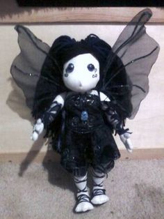 Evensong the gothic fairy - TOYS, DOLLS AND PLAYTHINGS  - Knitting, sewing, crochet, tutorials, children crafts, jewlery, needlework, swaps, papercrafts, cooking and so much more on Craftster.org