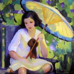 Mabel Alvarez - Girl With Parasol