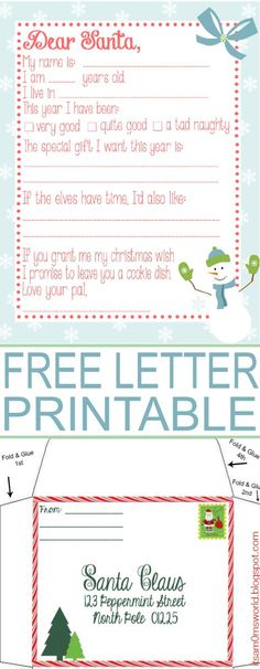 16 Free Letter To Santa Templates For Kids Printable letters - christmas wish list form