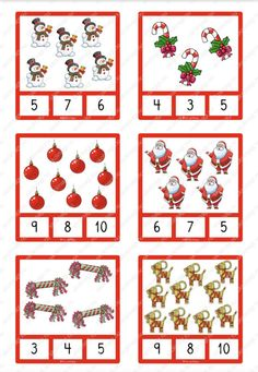 Antal – nypkort Christmas Crafts, Clip Art, Activities, Holiday Decor, Count, Cards, Math, First Grade, Math Resources