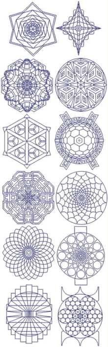 Snowflake Bluework Set