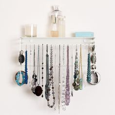 Holiday gift idea. New White Color! Holds over 110 pieces of jewelry from necklaces, bracelets, rings, earrings (stud and drop) as well as accessories like scarves, hats, belts, hair ties and handbags.