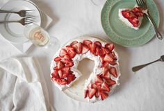 Limoncello Ricotta Cake with Strawberry Cream