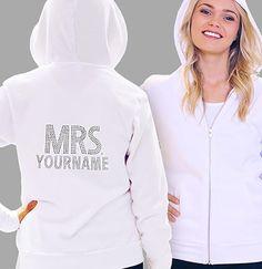 """Mrs."" Custom Rhinestone Hoodie"