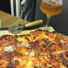 Beers and homemade pizza. Not bad for first timers!