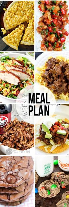 Easy Meal Plan #8 - Root Beer Stewed Beef, Baked Sweet and Sour Chicken, Monster Cookies and more from your very favorite bloggers!