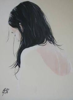 "Saatchi Art Artist Petra Kaindel; Painting, ""Am I back on my own?"" #art"