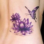 amazing flower and butterfly tattoo designs for girls