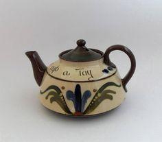 Vintage Motto Ware  Teapot Longpark Torquay Devon by joysofolduk on Etsy